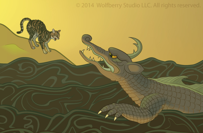 Cat and West Asian/South Asian sea dragon